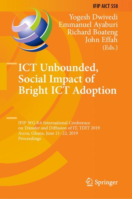 Cover of 'ICT Unbounded, Social Impact of Bright ICT Adoption'
