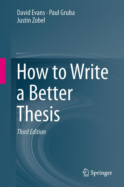 Cover of 'How to Write a Better Thesis'