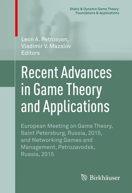 Cover of 'Recent Advances in Game Theory and Applications'