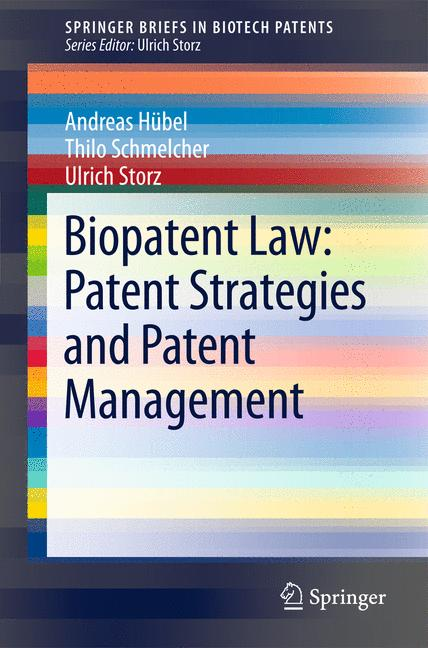 Cover of 'Biopatent Law: Patent Strategies and Patent Management'