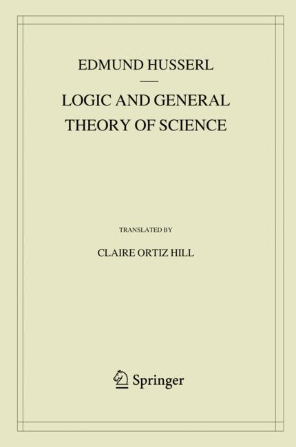 Cover of 'Logic and General Theory of Science'
