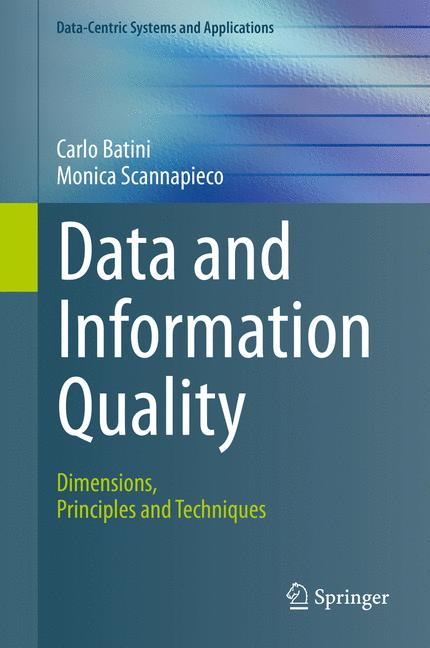 Cover of 'Data and Information Quality'