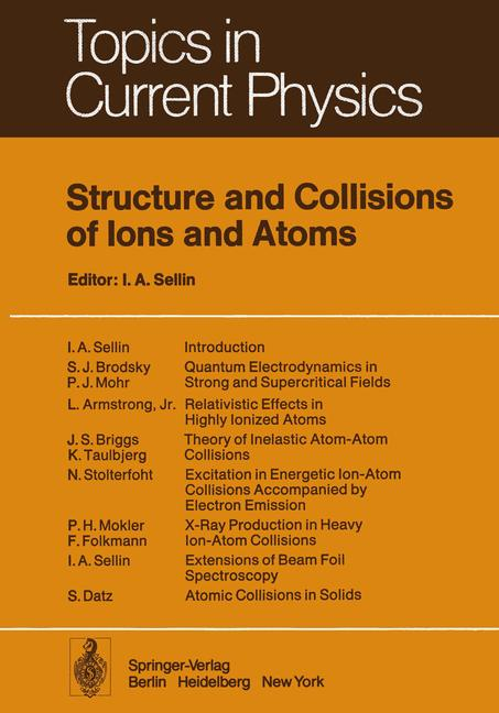 Cover of 'Structure and Collisions of Ions and Atoms'