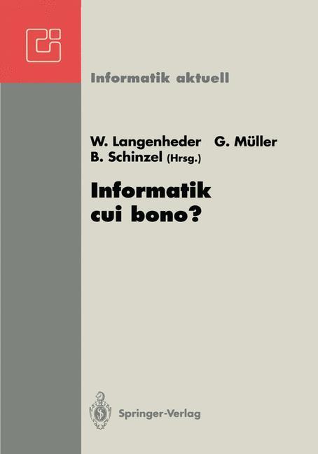 Cover of 'Informatik cui bono?'
