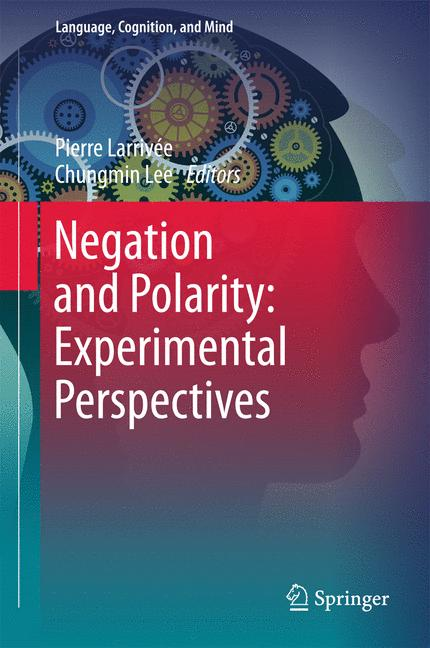 Cover of 'Negation and Polarity: Experimental Perspectives'