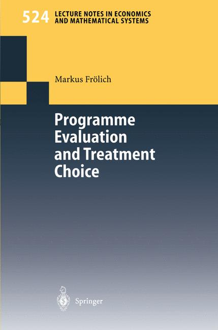 Cover of 'Programme evaluation and treatment choice'