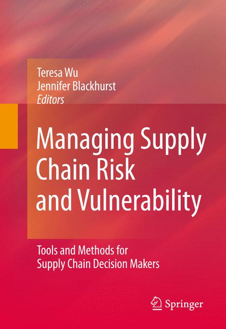 Cover of 'Managing Supply Chain Risk and Vulnerability'