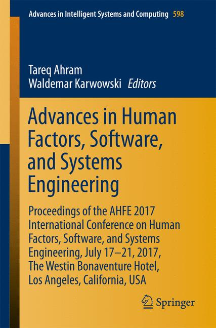 Cover of 'Advances in Human Factors, Software, and Systems Engineering'