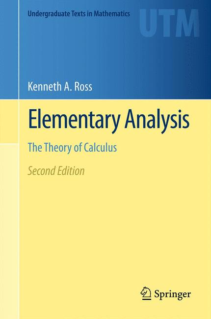 Cover of 'Elementary Analysis'