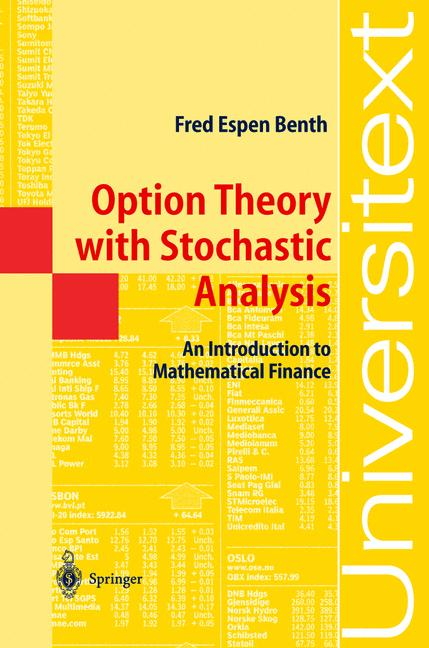 Cover of 'Option Theory with Stochastic Analysis : An Introduction to Mathematical Finance'
