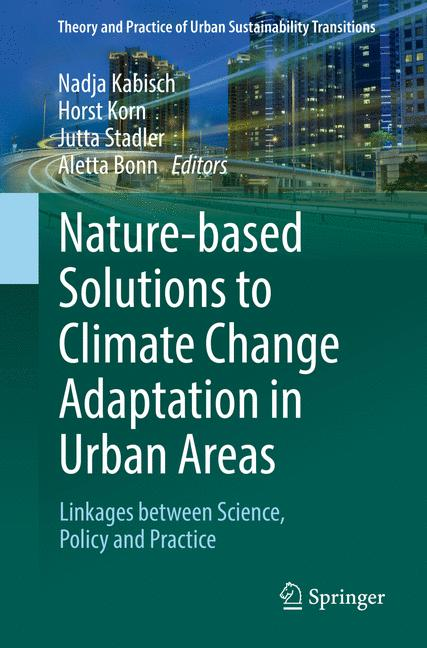 Cover of 'Nature-based Solutions to Climate Change Adaptation in Urban Areas'