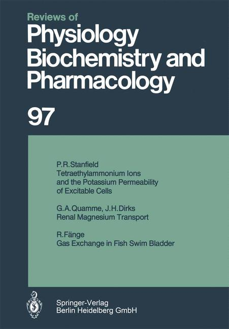 Cover of 'Reviews of Physiology, Biochemistry and Pharmacology, Volume 97'