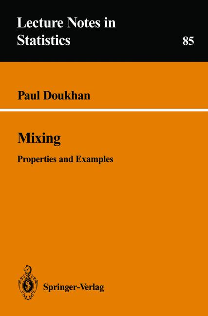 Cover of 'Mixing : properties and examples'