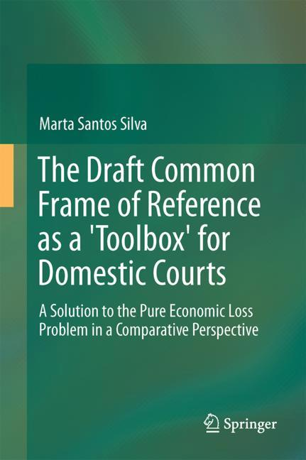 """Cover of 'The Draft Common Frame of Reference as a """"Toolbox"""" for Domestic Courts'"""