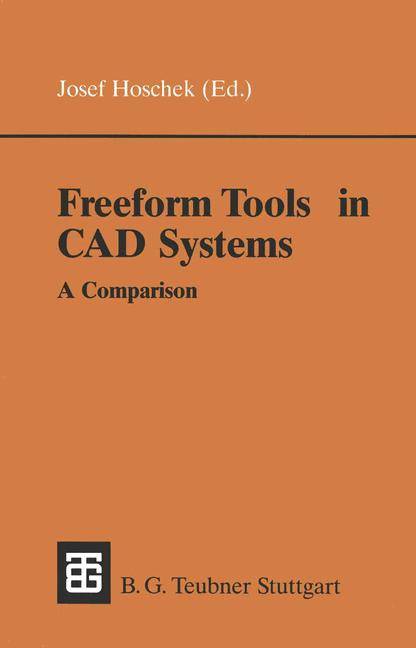 Cover of 'Freeform Tools in CAD Systems'