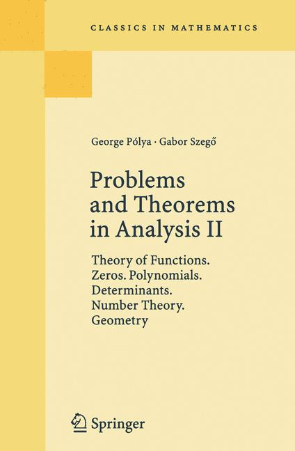 Cover of 'Problems and Theorems in Analysis II'