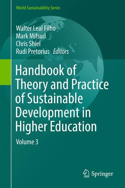 Cover of 'Handbook of Theory and Practice of Sustainable Development in Higher Education'
