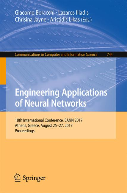 Cover of 'Engineering Applications of Neural Networks'