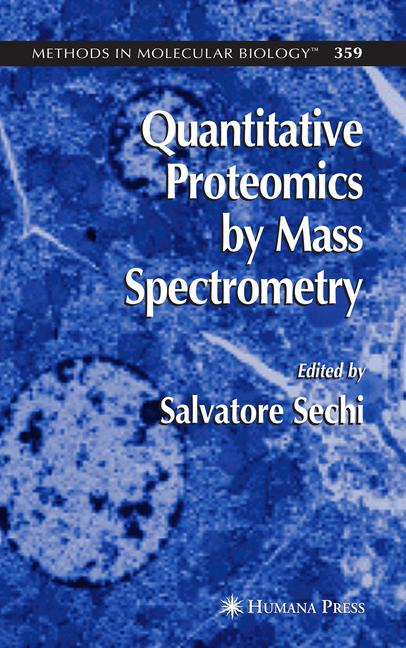 Cover of 'Quantitative Proteomics by Mass Spectrometry'