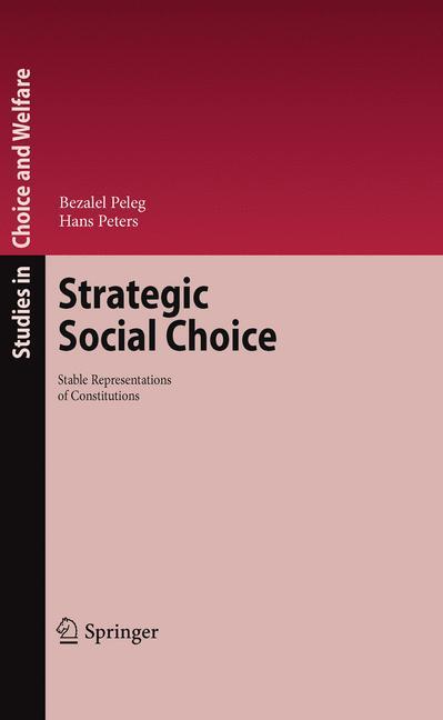 Cover of 'Strategic Social Choice'