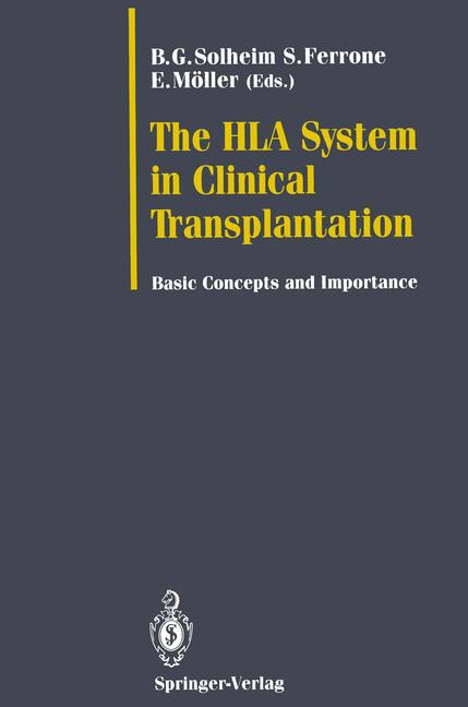 Cover of 'The HLA System in Clinical Transplantation'