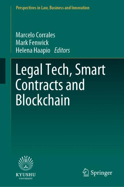 Cover of 'Legal Tech, Smart Contracts and Blockchain'