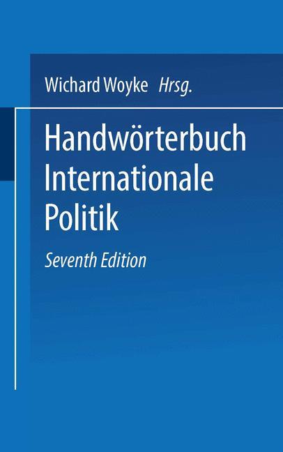 Cover of 'Handwörterbuch Internationale Politik'
