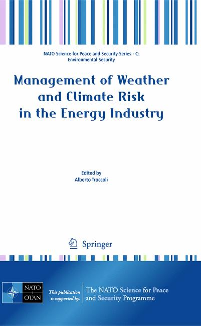 Cover of 'Management of Weather and Climate Risk in the Energy Industry'