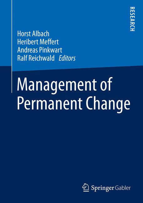 Cover of 'Management of Permanent Change'