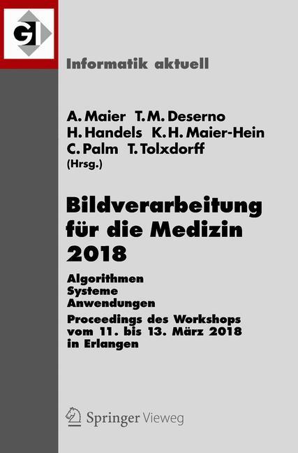 Cover of 'Bildverarbeitung für die Medizin 2018'