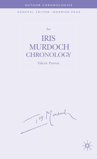 Cover of 'An Iris Murdoch Chronology'