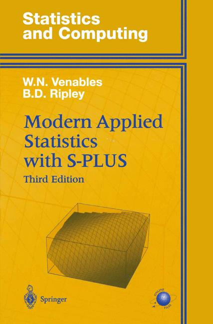 Cover of 'Modern Applied Statistics with S-PLUS'