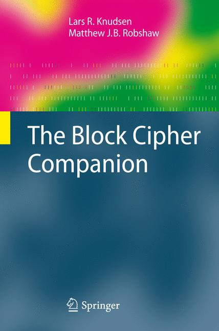 Cover of 'The Block Cipher Companion'