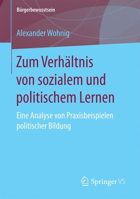 Cover of 'Zum Verhältnis von sozialem und politischem Lernen'