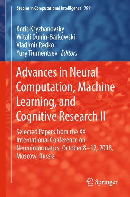 Cover of 'Advances in Neural Computation, Machine Learning, and Cognitive Research II'