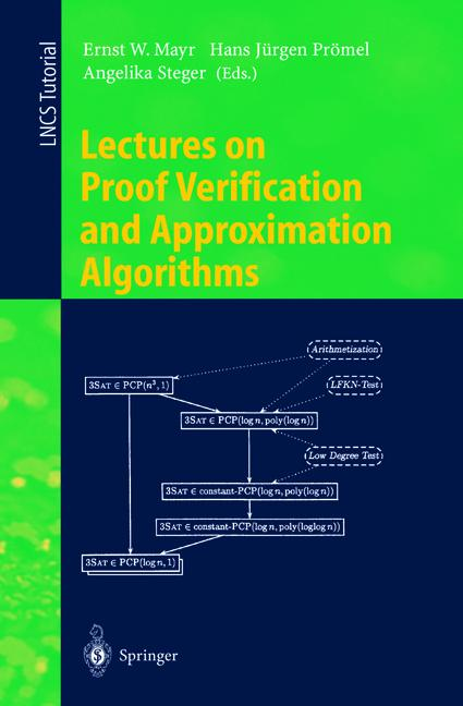 Cover of 'Lectures on Proof Verification and Approximation Algorithms'
