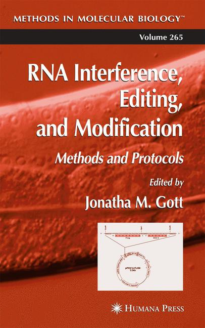 Cover of 'RNA Interference, Editing, and Modification'