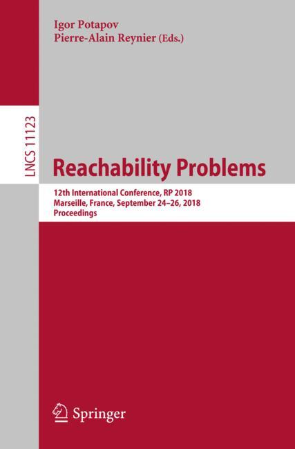 Cover of 'Reachability Problems'