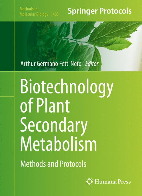 Cover of 'Biotechnology of Plant Secondary Metabolism'