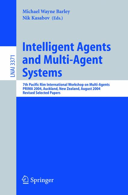 Cover of 'Intelligent Agents and Multi-Agent Systems'