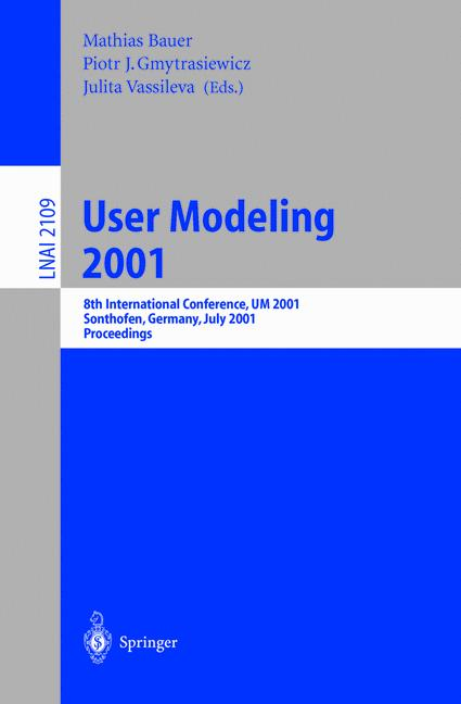 Cover of 'User Modeling 2001'