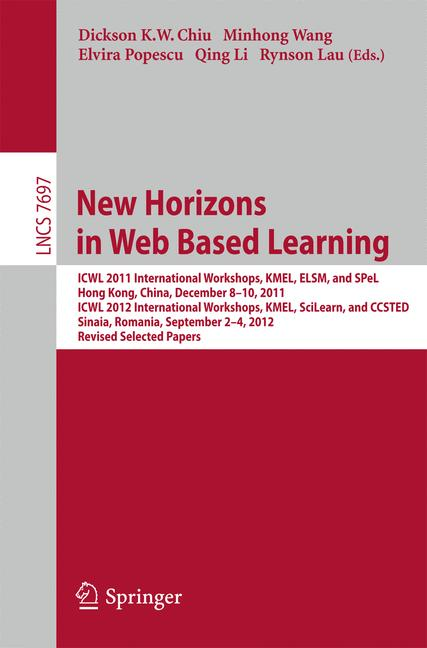 Cover of 'New Horizons in Web Based Learning'