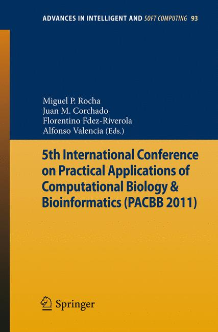 Cover of '5th International Conference on Practical Applications of Computational Biology & Bioinformatics (PACBB 2011)'