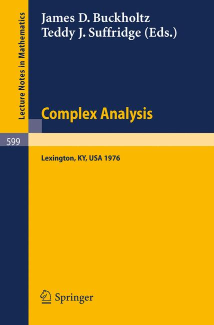 Cover of 'Complex Analysis'