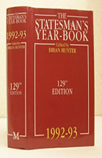 Cover of 'The Statesman's Year Book: 1992-93'
