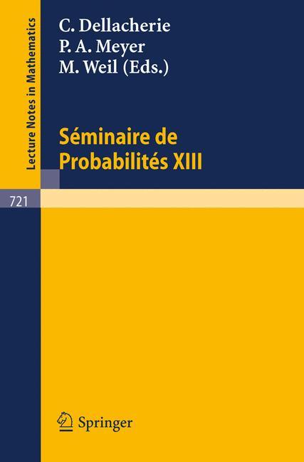 Cover of 'Séminaire de Probabilités XIII'