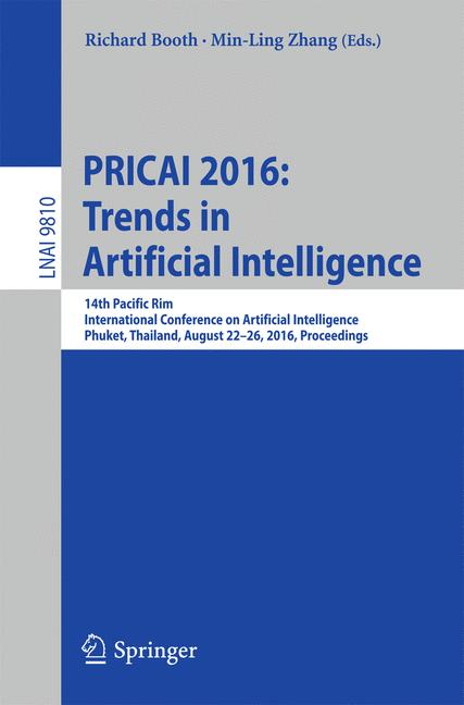 Cover of 'PRICAI 2016: Trends in Artificial Intelligence'