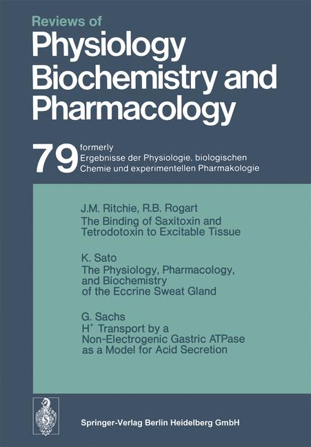 Cover of 'Reviews of Physiology, Biochemistry and Pharmacology, Volume 79'