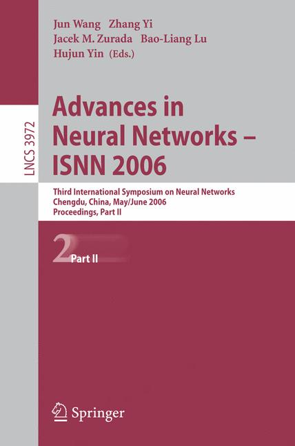 Cover of 'Advances in Neural Networks - ISNN 2006'