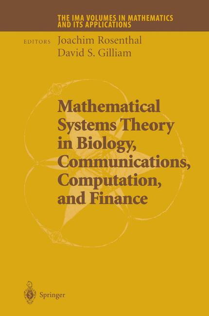 Cover of 'Mathematical Systems Theory in Biology, Communications, Computation, and Finance'
